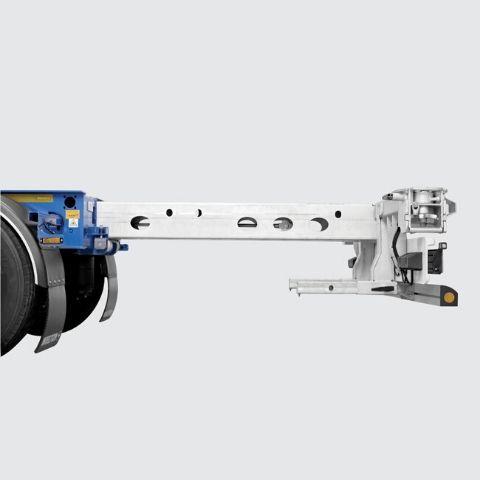 <p>Rozsuwany mechanicznie lub pneumatycznie panel tylni, dostosowany do przewozu wszystkich rodzajów<br /> kontenerów. Zabezpieczony antykorozyjnie ocynkiem ogniowym</p>