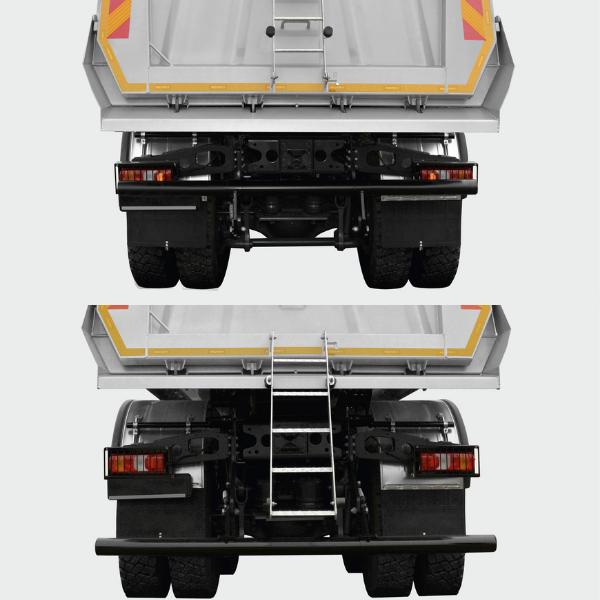 <p>Zoptymalizowany masowo zderzak tylny z możliwością złożenia, przystosowany do współpracy z rozściełaczem asfaltu.</p>