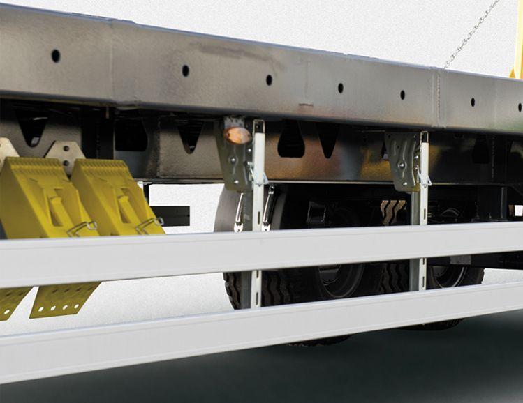 <p>Otwory w obrzeżu podłogi umożliwiające mocowanie pasów</p>