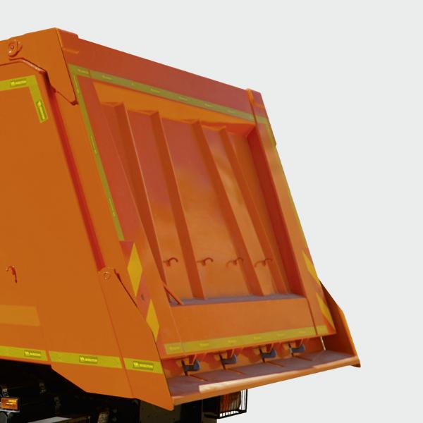 <p>Solidne rozwiązania, zastosowane w konstrukcji tylnej klapy, zapewniają niezawodność podczas częstych rozładunków.</p>